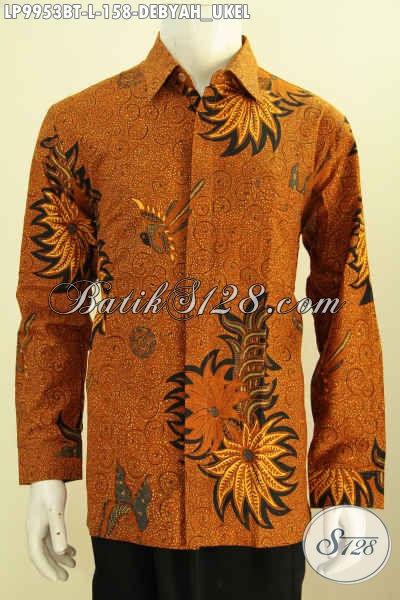 Produk Koleksi Baju Batik Solo Di Jual Online, Hem Batik Lengan Panjang Motif Debyah Ukel Proses Kombinasi Tulis Bahan Adem, Penampilan Lebih Gagah, Size L