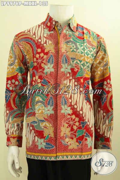 Produk Pakaian Batik Terkini, Baju Batik Kantoran Pria Lengan Panjang Motif Mewah Proses Printing, Cocok Juga Buat Kondangan, Size M – XXL