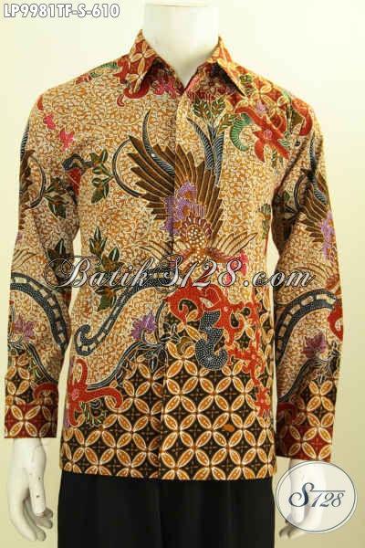 Produk Kemeja Batik Mewah Lengan Panjang Full Furing Kesukaan Para Eksmud, Hem Batik Berkelas Bikin Penampilan Tampan Maksimal [LP9981TF-S]