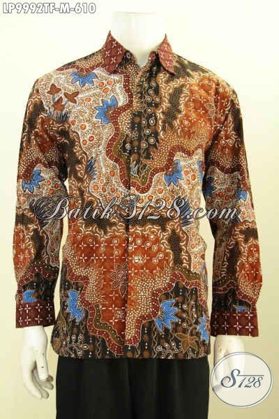 Sedia Hem Batik Premium Solo Terkini, Kemeja Batik Mewah Untuk Kerja Rapat Dan Acara Resmi Tampil Berkelas Harga 610K, Size M