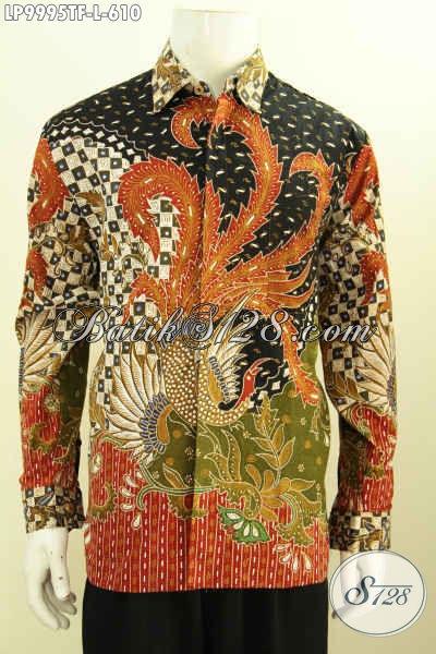 Produk Pakaian Batik Premium Nan Mewah, Baju Batik Lelaki Kantoran Yang Ingin Tampil Berkelas Dan Premium [LP9995TF-L]