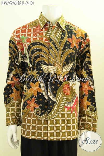 Batik Hem Solo Premium Terkini, Hem Lengan Panjang Berkelas Motif Bagus Proses Tulis Daleman Full Furing, Bikin Pria Terlihat Mempesona [LP9999TF-L]
