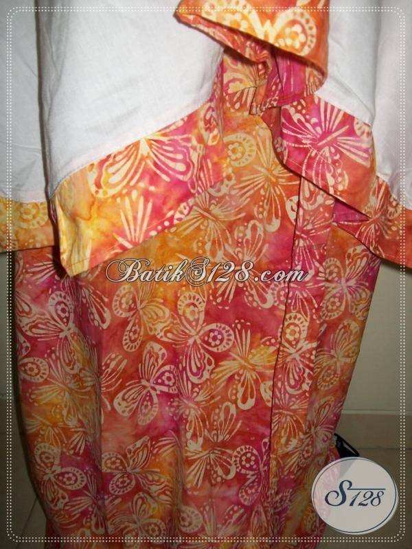 Mukena Batik Warna Cerah,Mukena Batik Cap Asli Batik Solo,Bahan Mukena Adem [MC038]