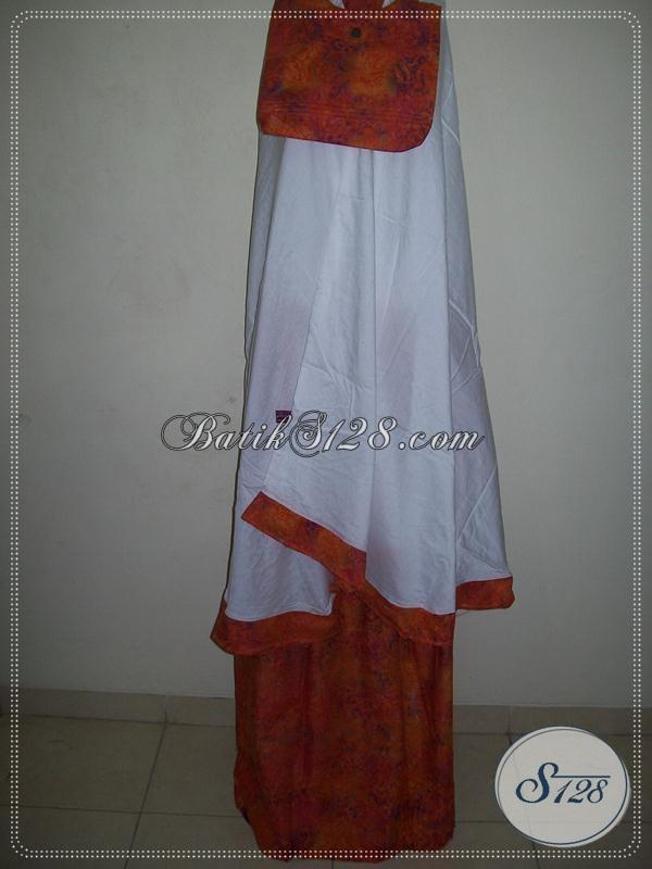 Grosir Mukena Batik Cantik,Mukena Batik Model Atas Bawah [MC053]
