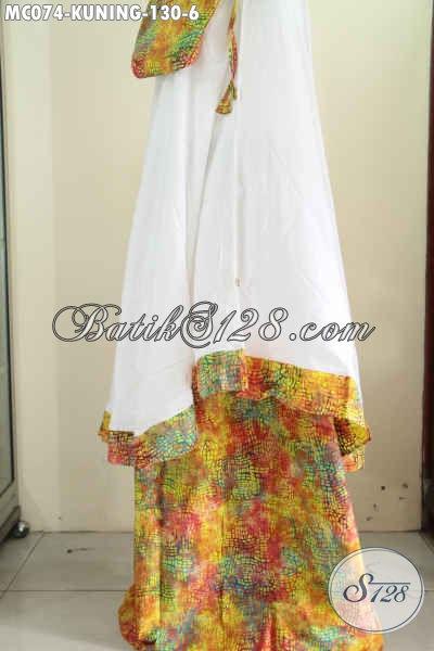 Jual Mukena Batik Untuk Wanita Dewasa, Hadir Dengan Bahan Halus Dan Adem Dengan Motif Trendy Dan Warna Gradasi Harga 130K [MC074-Dewasa]