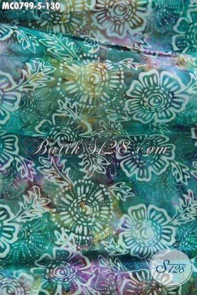 Sedia Mukena Batik Trendy Untuk Dewasa, Atasan Berbahan Santung Halus Berpadu Batik Cap Motif Keren Warna Gradasi [MC079-Dewasa]