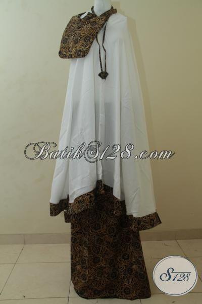 Toko Batik Jawa Jual Mukena Batik Bagus Dan Halus Hanya 100 Ribuan, Rukuh Batik Motif Trend Terkini Asli Buatan Solo [MC111-All Size]