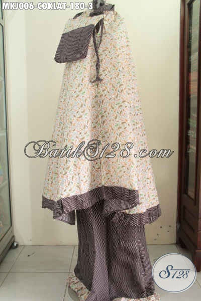 Juragan Pakaian Batik Online, Sedia Rukuh Batik Buat Wanita Dewasa, Berbahan Halus Katun Jepang Motif Trendy Dengan Warna Coklat Harga 180K [MKJ006-Dewasa]