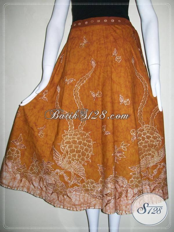 Rok Batik Lilit Model Masa Kini,Rok Batik Motif Batik Tulis Asli Solo [R017T]