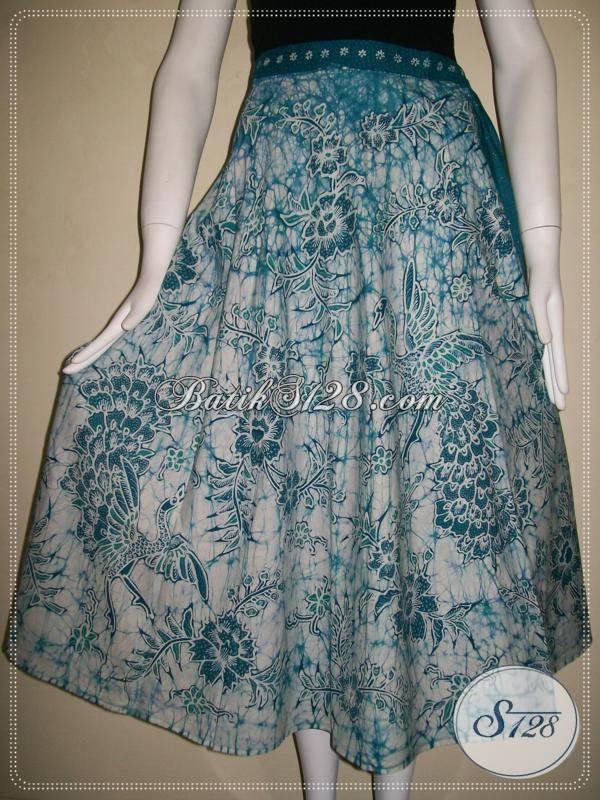 Rok Batik Tulis Motif Burung Merak Dan Floral,Rok BAtik Elegan Dan Untuk Wanita Aktif [R021T]