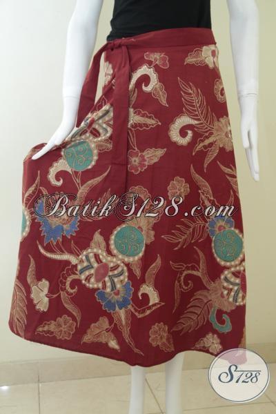 Rok Batik Tulis Premium Model Lilit Untuk Wanita Tampil Cantik Anggun Dan Trendy