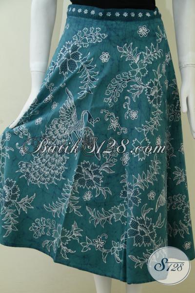 Rok Bawahan Batik Warna Hijau Tosca Batik Tulis Wanita Exclusive