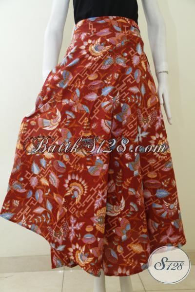 Produk Terbaru Toko Batik Solo Online, Rok Batik Merah Motif Modern Dan Unik, Pakaian Batik Penunjang Penampilan Wanita Masa Kini [R1993BT-All Size]