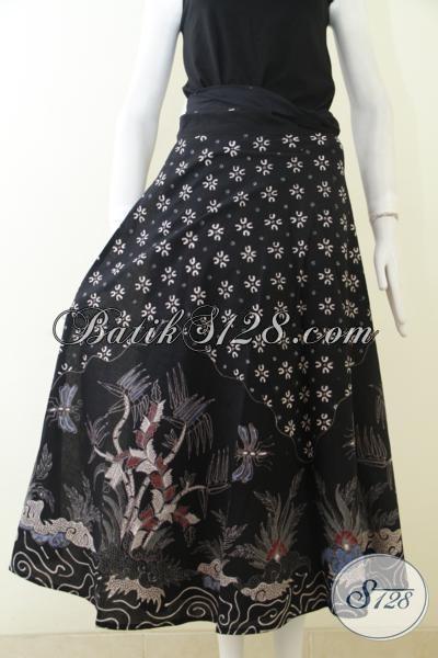 Busana Batik Modern Untuk Wanita Rok Batik Baju Bawahan Warna Hitam