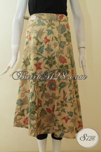 Jual Online Rok Batik Motif Bunga, Bawahan Batik Proses Printing Kwalitas Halus Model Terbaru