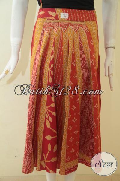 Batik Rok Model Bagus Kwalitas Halus Proses Printing, Busana Batik Wanita Muda Tampil Lebih Menggoda