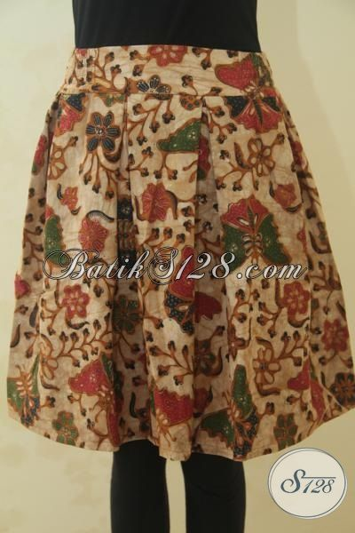 Rok Batik Kombinasi Tulis Motif Terkini Berpadu Model Yang Trendy Dan Banyak Di Sukai, Pakaian Batik Modern Wanita Tampil Makin Mempesona, Size M
