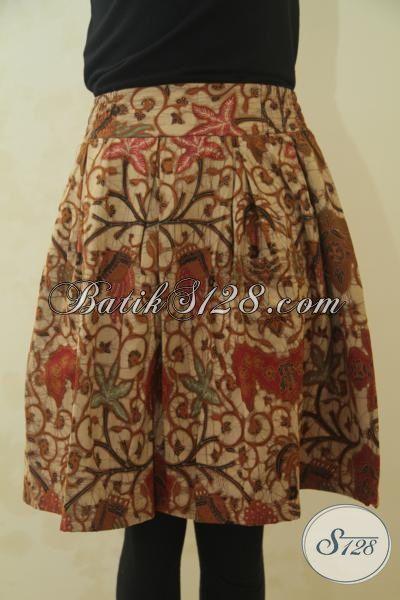 Busana Batik Bawahan Untuk Wanita Muda, Rok Batik Halus Motif Elegan Proses Kombinasi Tulis Pas Buat Kerja, Size M