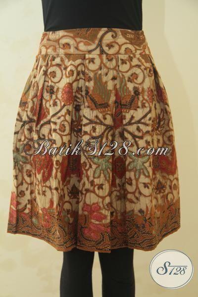 Produk Rok Batik Panjang Selutut, Busana Bahan Adem Motif Terbaru kombinasi Tulis, Bikin Wanita Semakin Mempesona, Size S