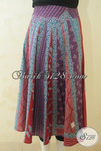 Produk Batik Rok 2017 Lebih Modis Dan Gaul, Bawahan Batik Bahan Adem Proses Print membuat Cewek Lebih Bergaya, Size M