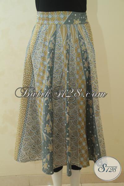 Rok Batik Modern Warna Soft Kwalitas Halus Desain Terbaru Yang Istimewa, Pakaian Batik Printing Perempuan Muda Tampil Trendy Dan Gaul, Size S