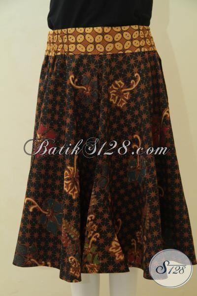 Jual Rok Batik Premium Desain Istimewa Cocok Buat Wanita Muda, Busana Batik Kombinasi Tulis Halus Modis Dan BErkelas, Cocok Buat Jalan-Jalan