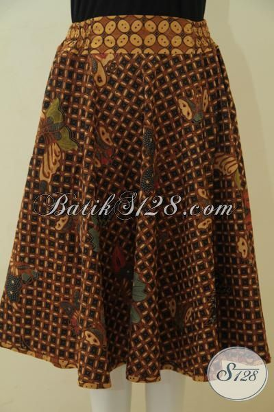 Batik Rok Bagus Model Terbaru Yang Banyak Di Cari, Baju Bawahan Batik Wanita Muda Modis Proses Kombinasi Tulis  Kwalitas Istimewa [R3564BTF-All Size]