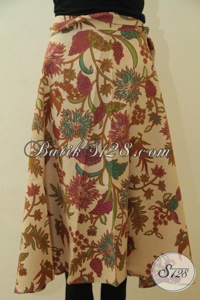 Jual Online Rok Batik Motif Tanaman Bunga, Datang Dengan Model Lilit Berbahan Halus Lembut Proses Print Lasem Harga Terjangkau