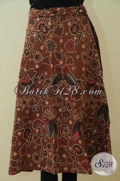 Rok Batik Coklat Kwalitas Premium Proses Kombinasi Tulis, Rok Batik Lilit Elegan Buat Wanita Dewasa