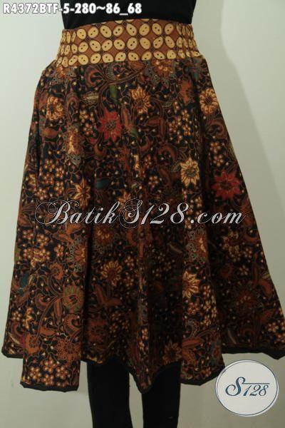 Jual Rok Batik Elegan Motif Klasik Proses Kombinasi Tulis, Bawahan Batik Untuk Wanita Muda Desain Terbaru Pake Relseting Belakang Dan Karet Pinggang Lebih Nyaman Di Pakai [R4372BTF-All Size]