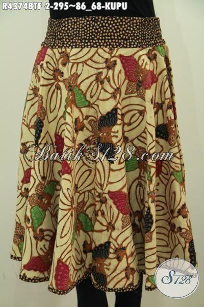 Rok Batik Pendek Kwalitas Premium, Busana Batik Bawahan Untuk Wanita Tampil Lebih Gaya Dan Mempesona, Berbahan Halus Proses Kombinasi Tulis Motif Kupu-Kupu