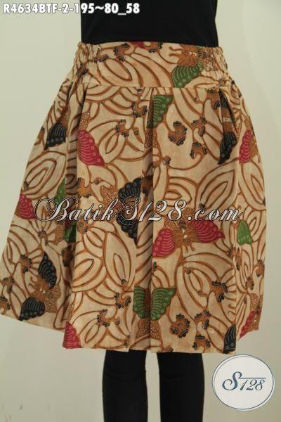 Rok Klok Batik Motif Kupu Proses Kombinasi Tulis, Bawahan Batik Elegan Kwalitas Bagus Bahan Adem Dilengkapi Daleman Full Furing Dengan Model Mini Lebih Modis Dan Gaya