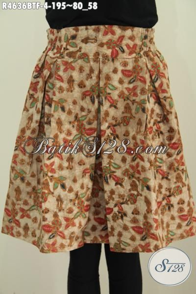 Jual Rok Batik Istimewa Model Trendy Untuk Perempuan Muda Tampil Lebih Gaya Dan Mempesona, Baju Batik Berkelas Motif Bunga Proses Kombinasi Tulis