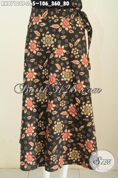 Rok Batik Model Lilit Untuk Wanita Muda Dan Dewasa, Busana Bawahan Motif Bagus Proses Cap Tulis Bahan Adem Untuk Tampil Lebih Modis Dan Gaya [RK4712CT-All Size]