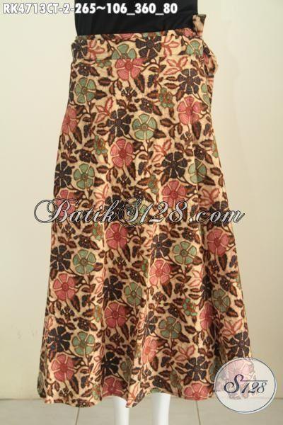Sedia rok Batik Model Lilit Desain Istimewa, Produk Busana batik Wanita Terkini Untuk Menunjang Penampilan Lebih Stylish Dan Keren, Berbahan Halus Proses Cap Tulis Hany 265K [RK4713CT-All Size]