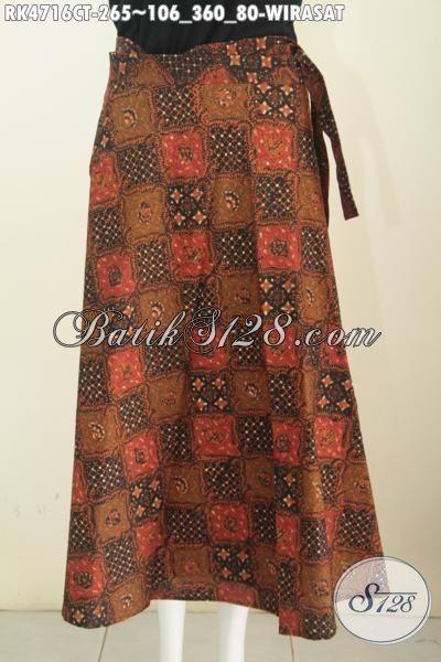 Batik Rok Modern Model Lilit Motif Elegan Wirasat, Baju Batik Bawahan Proses Cap Tulis Yang Bikin Wanita Terlihat Mempesona
