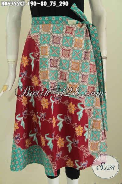 Sedia Busana Batik Wanita Terbaru, Rok Batik Trendy Bahan Halus Kwalitas Istimewa Cocok Buat Seragam Kerja [RK5722CT-All Size]