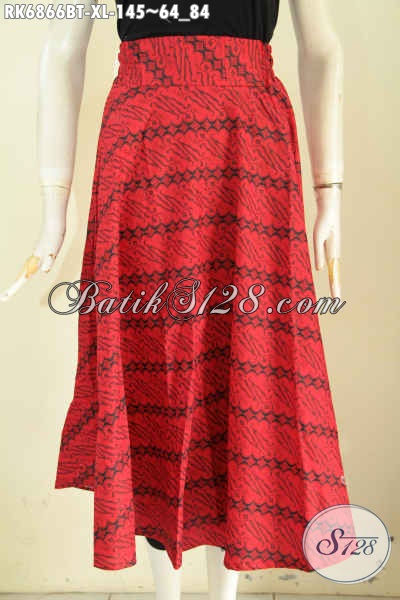 Model Rok Batik Monokrom Warna Merah
