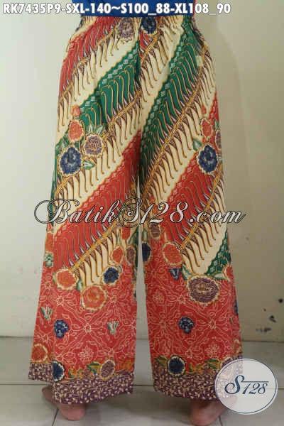 Produk Terbaru Celana Batik Kulot Mode Layer, Pakaian Batik Bawahan Nan Modis Cocok Buat Jalan-Jalan Tampil Menawan [RK7435P-S]