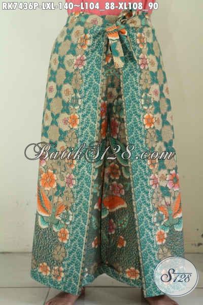 Batik Celana Kulot Model Layer Untuk Wanita Dewasa, Produk Celana Batik Modern Menunjang Penampilan Lebih Modis [RK7436P-XL]