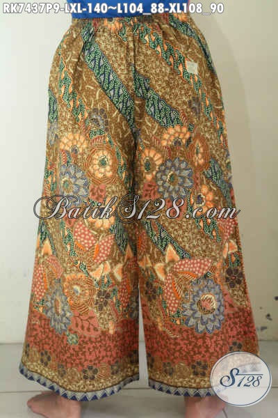 Celana Batik Kulot Wanita Dewasa, Hadir Dengan Desain Layer Atau Tumpuk Motif Bagus Proses Printing Harga 140K [RK7437P-XL]