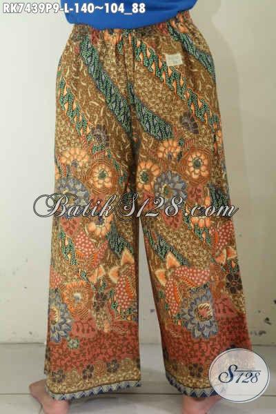 Celana Batik Kulot Model Tumpuk, Batik Celana Buatan Solo Motif Bagus Proses Printing, Pas Buat Jalan-Jalan [RK7439P-L]