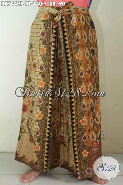 Jual Celana Batik Solo Halus Model Kulot Pakai Layer Trend Masa Kini Harga 140K, Tampil Lebih Modis [RK7440P-XL]