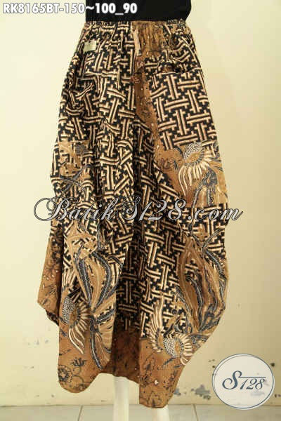 Model Rok Batik Kekinian, Bawahan Batik Desain Aladin Motif Elegan Kombinasi Tulis, Di Lengkapi Karet Pinggan Dan Tali, Modis Buat Jalan-Jalan [RK8165BT-All Size]