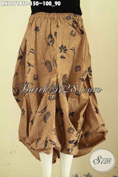 Model Baju Batik Wanita Terkini, Rok Batik Aladin Nan Modis Dengan Kantong 2 Serta Bertali, Cocok Buat Hangout