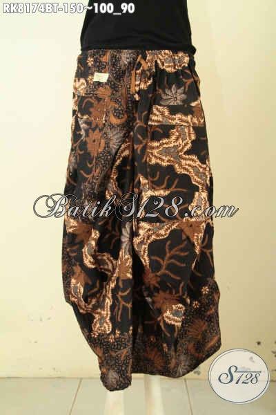 Model Rok Batik Aladin Yang Kekinian, Bawahan Batik Untuk Wanita Muda Dan Remaja Putri Tampil Beragay, Di Lengkapi Karet Pinggan Tali Serta Kantong 2 [RK8174BT-All Size]