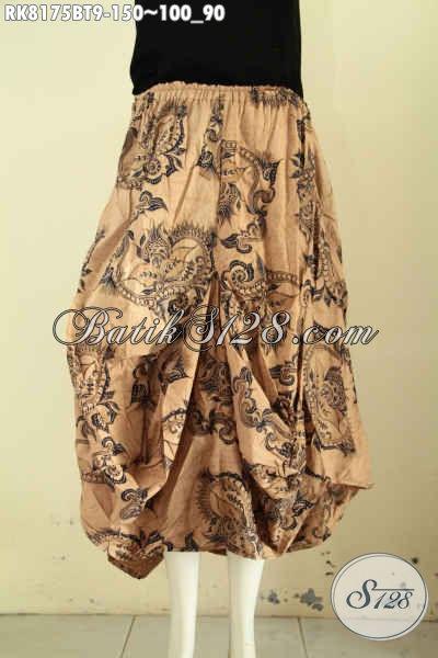 Model Rok Batik Solo Jawa Kwalitas Bagus Motif Klasik Kombinasi Tulis, Batik Rok Aladin Yang Kekinian Bikin Penampilan Cantik Menawan [RK8175BT-All Size]