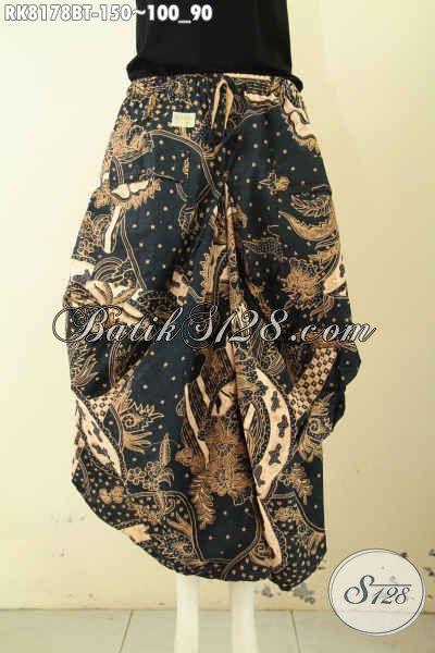 Model Rok Batik Keren Motif Elegan Kombinasi Tulis, Batik Rok Aladin Kantong 2 Pakai Tali Dan Karet Di Pinggang, Bikin Penampilan Lebih Gaul [RK8178BT-All Size]
