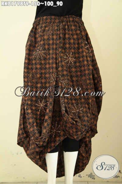 Model Rok Batik Bawahan Motif Klasik Kombinasi Tulis, Batik Rok Solo Desain Aladin Dengan Karet Pinggang Serta 2 Kantong Bahan Adem Nyaman Di Pakai [RK8179BT-All Size]