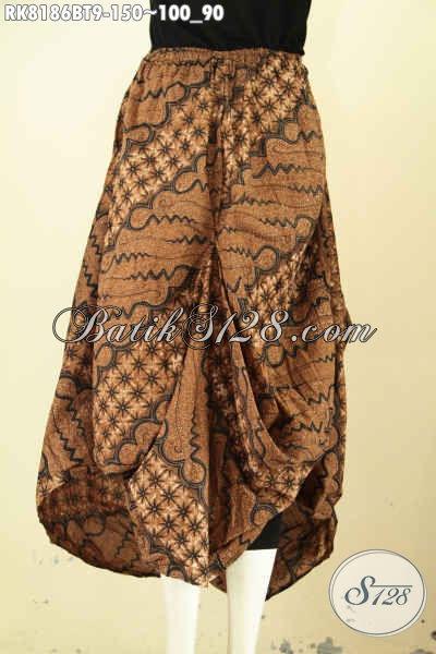 Model Rok Batik Wanita Masa Kini, Rok Batik Aladin Yang Membuat Penampilan Cantik Dan Modis, Bahan Halus Pakai Kantong 2 Serta Karet Tali Pinggang Hanya 150K [RK8186BT-All Size]